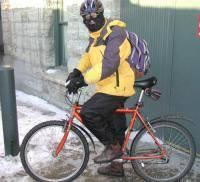 Остальные виды спорта: Зимой на велосипеде Можно